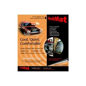 "10 Sq. Ft. Hushmat 10200 Ultra Door Kit Black-ten 12/""x12/"" Sheets"