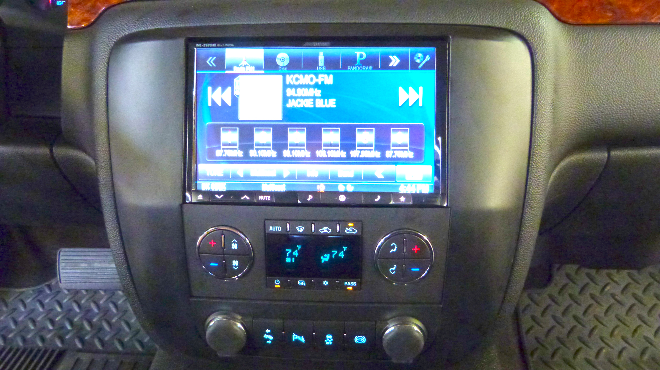 inch double din head unit